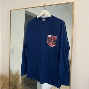 Fraternity Collection Flag Pocket Tee